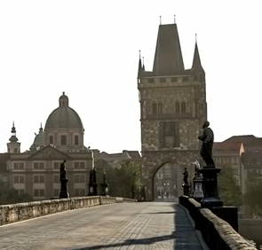 Screenshot from the Forza Motorsport 5 game with Prague